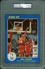 Cavaliers Melvin Turpin Authentic Signed Card 5X7 Star '85 Blue PSA/DNA Slabbed