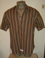 "NWT English Laundry Men's S/S Shirt ""WARDOUR"" Choc. Check Sz 44 Christoper Wicks"