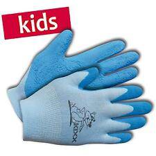 KIXX Kinder-Handschuhe Garten Arbeitshandschuhe Nylon/Latex Gr. 4 blau