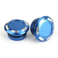 Pair Blue CNC Billet Alu Hole Frame Plug Cap for Yamaha T7 Tenere 700 2019-20 A5