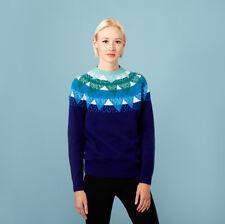 Donna Wilson mountain peak indigo blue sweater fair isle NWT RARE icelandic