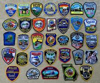 Assorted (TRAIN) Police Dept Patches (Lot of 33) Nice Collection (All Mint)