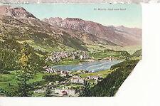St. Moritz  Bad Und Dorf    Mailed 1924  Postcard 2117
