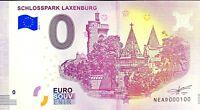 BILLET 0  EURO  SCHLOSSPARK LAXENBURG   AUTRICHE   2018  NUMERO 100