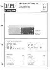 ITT/Schaub-Lorenz Service Manual für Violetta 103