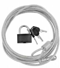 Strong Steel Security Cable with Padlock Bike Lock Lap Tops/Monitor Cable Lock