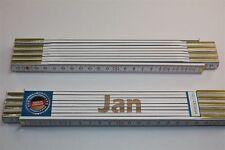 Zollstock mit Namen      JAN    Lasergravur 2 Meter Handwerkerqualität