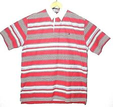 Tommy Hilfiger Vintage Red Yellow Blue Striped Men's Medium Polo Shirt EUC!