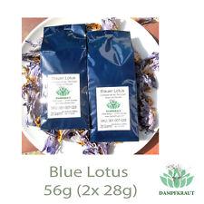 56 gramos de azul Lotus flores y Stamen (Nymphaea caerulea) lentamente secos