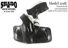 SHADO Leather Holster Model 101R Left Hand Thumb Break Black fits S&W J Frame