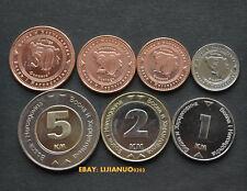 Bosnien-Hercegovina set 7 coins : 5+10+20+50 Feninga 1+2+5 Konvertable Marka