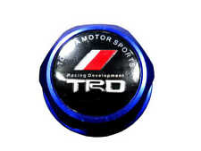 New Blue TRD Racing Oil Filler Cap Fuel Tank Cover Aluminum For Most Toyota Cars