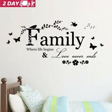Family Butterfly Flower Wall Stickers Art Vinyl Quote Decals Home Room Decor US