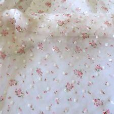 White Chiffon  lace Dress Fabric#10WE105B 50 cm