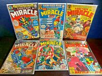 1st Appearance MISTER MIRACLE 1 2 3 6 7 8 Jack Kirby Bronze-Age Lot 1971 Set Run