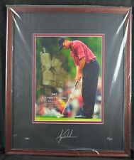 TIGER WOODS AUTO SIGNED UDA 2002 U.S. OPEN 35/100 16x20 PHOTO UPPER DECK