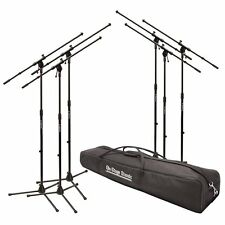 On-Stage MS7706-6 Pack MS7701B Euroboom Microphone Stands w/ Carry Bag