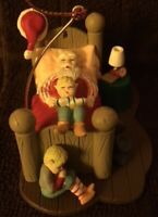 NEW Vintage Christmas Charmers Santa Sleeping Collectable Ornament