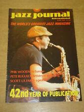 JAZZ JOURNAL INTERNATIONAL VOL 42 #6 1989 JUNE PHIL WOODS PETE RUGULO