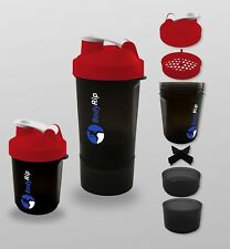 BodyRip 400-500Ml Protein Mixer Shaker Bottle Cup Whey Nutrition ⋐Red⋑