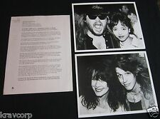 PAMELA DES BARRES/HIROKO—1989 PRESS KIT—2 PHOTOS—SAM KINISON