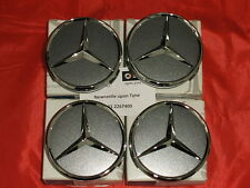 Genuine Mercedes-Benz Set of X4 Himalaya Grey Alloy Wheel Hub Cap / Centre Caps