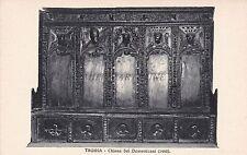 TAGGIA (Imperia) - Chiesa dei Domenicani (1460) - Banco del Presbitero