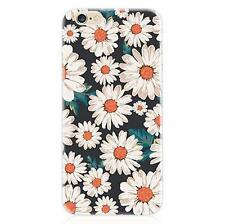Rubber Soft TPU Silicone Slim Painting Flower Case Cover For iPhone se 6 6S Plus