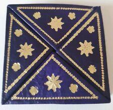 Moroccan leather magic small coin purse wallet PURPLE(4)