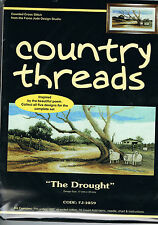 """Country Threads """" THE DROUGHT """" Counted Cross Stitch Kit,"""
