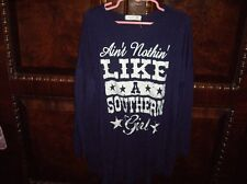 "EUC Girls Size M Graphic T-Shirt ""Ain't Nothin Like A Southern Girl"" Purple LS"