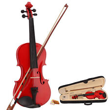 Hot Sale 1/2 Acoustic Violin Red +Case+Bow +Rosin for 9-10 Years old Children