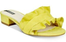 Alfani Monah Open Toe Casual SANDAL Slide On Shoes Suede Yellow  Size 9 M -New-