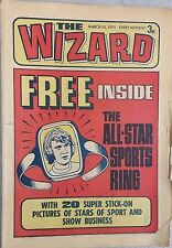THE WIZARD weekly British comic book March 10, 1973 (no ring)