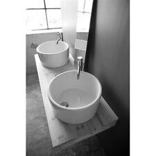 Fregadero Lavado cuenca apoyo Design Fly redondo 41cm de cerámica blanca