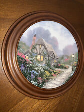 "New ListingThomas Kinkade ""Chandler'S Cottage"" Signed & Numbered Collector Plate – Vintage"