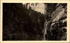 Ceske Svycarsko Durisova souteska zkamenela rodina AK Vintage Postcard ca- 1960