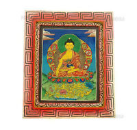 Budda Peinture Su Legno Tibetano Nepal Tangka 5332