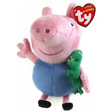 "TY GEORGE PIG BEANIE -6"" (15CM) SOFT PLUSH TOY - FROM THE PEPPA PIG RANGE - BNWT"