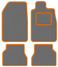TVR Tasmin 85 85- Super Velour Light Grey/Orange Trim Car mat set