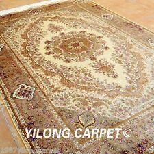 Yilong 6'x9' Persian Silk Rugs Hand Knotted Living Room Art Carpet Handmade 0709