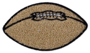 """FOOTBALL 4"""" WIDE CHENILLE EMBROIDERED PATCH APPLIQUE SEW ON STYLE"""