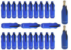 Flaschenhüllen 0,5 Liter blau Neopren 25 STÜCK !