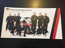 CP POSTCARD CARTOLINA TOYOTA YARIS WRC GAZOO RACING TANAK LATVALA MONTE CARLO 18