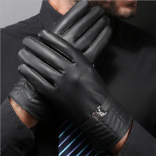 Mens Leather Gloves Touch Screen Thermal Thinsulate Lined Driving Warm Gloves
