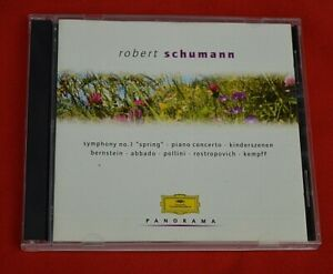 DG :  2 CD SET :    SCHUMANN SYMPHONY NO 1 / PIANO CONCERTO / KINDERSZENEN!