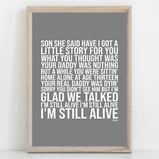 More details for pearl jam alive song lyrics poster print wall art
