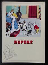 Rupert Bear RUPERT AND BILL IN THE TREE TOPS c1992 by Reflex Marketing PC823