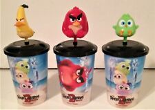 Angry Birds 2 Movie Theater Exclusive Bobble Head Cup Topper Set