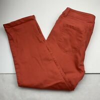 Chicos Womens Pants Size 2.5 Cropped Ankle Coral Pink
